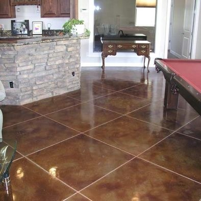 Affordable Concrete Basement Floor Staining Services